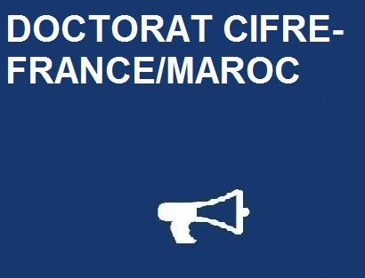 Accord relatif au programme «DOCTORAT CIFRE-FRANCE/MAROC»