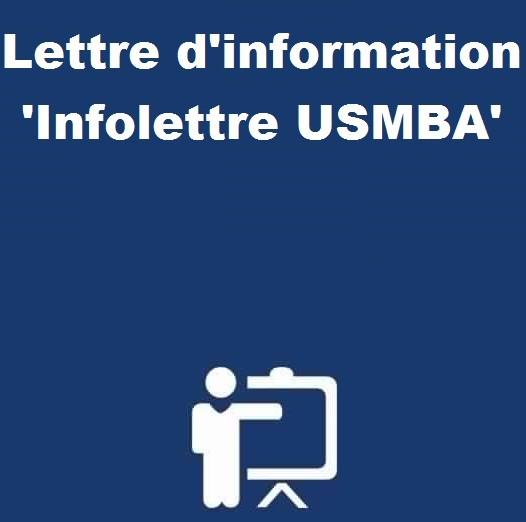 Lettre d'information 'Infolettre USMBA'