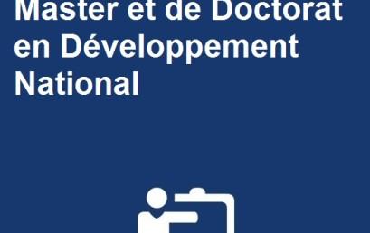 Chine / Programme de Master et de Doctorat en Développement National