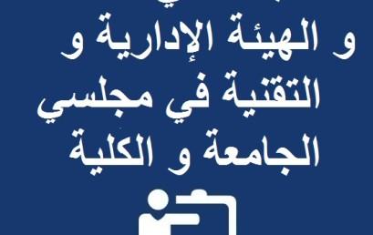 انتخاب ممثلي الأساتذة و الهيئة الإدارية و التقنية في مجلسي الجامعة و الكلية