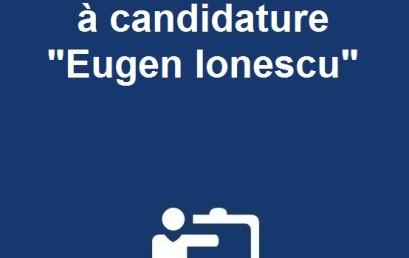 Ouverture de l'appel à candidature «Eugen Ionescu»