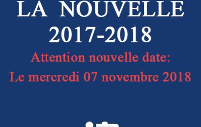 Le Département de Langue et de Littérature Françaises organise le CONCOURS  DE LA  NOUVELLE  2017-2018 Le mercredi 07 novembre 2018