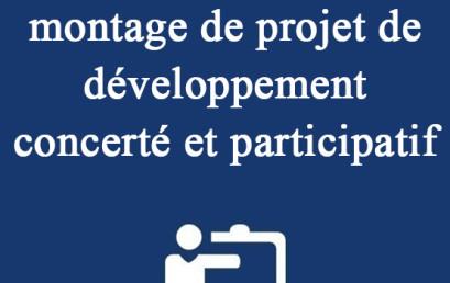 Formation en montage de projet de développement concerté et participatif