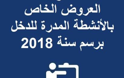 إعلان مفتوح عن طلب العروض الخاص بالأنشطة المدرة للدخل برسم سنة 2018
