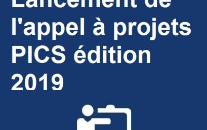 Lancement de l'appel à projets PICS édition 2019