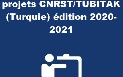 Lancement de l'Appel à projets CNRST/TUBITAK (Turquie) édition 2020-2021