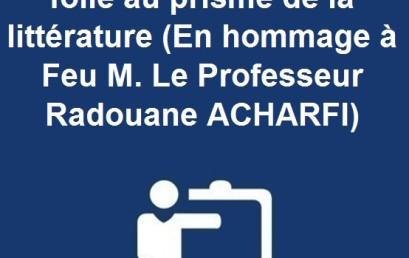 Journées d'études La folie au prisme de la littérature (En hommage à Feu M. Le Professeur Radouane ACHARFI)